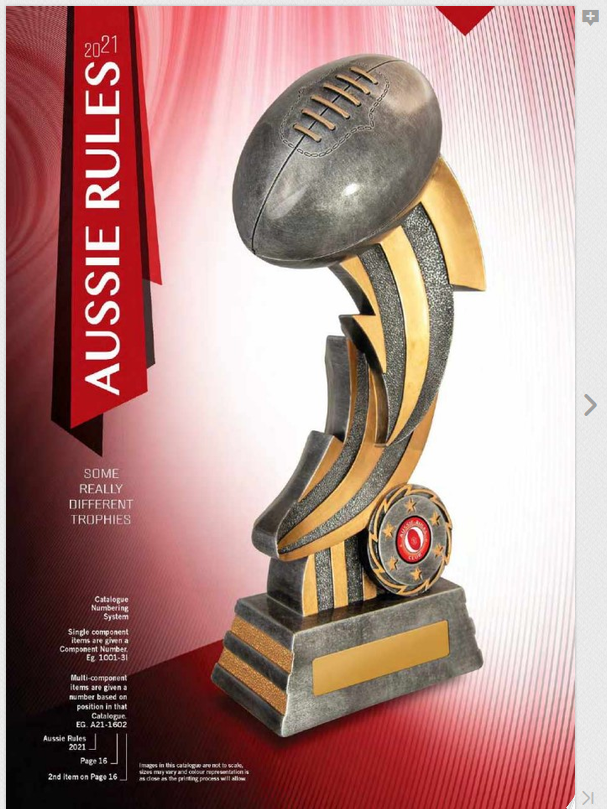 Aussie Rules Awards Catalogue 2021