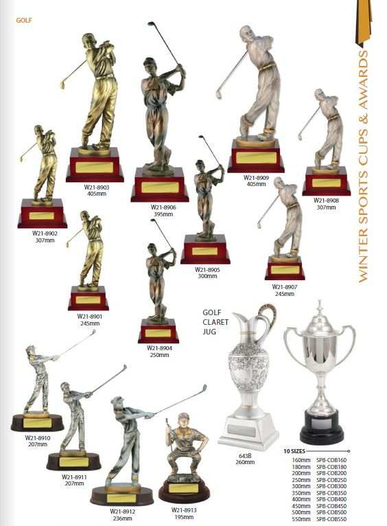 Golf trophies and awards 2021
